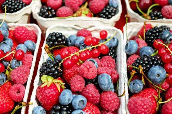 fruit met weinig suiker